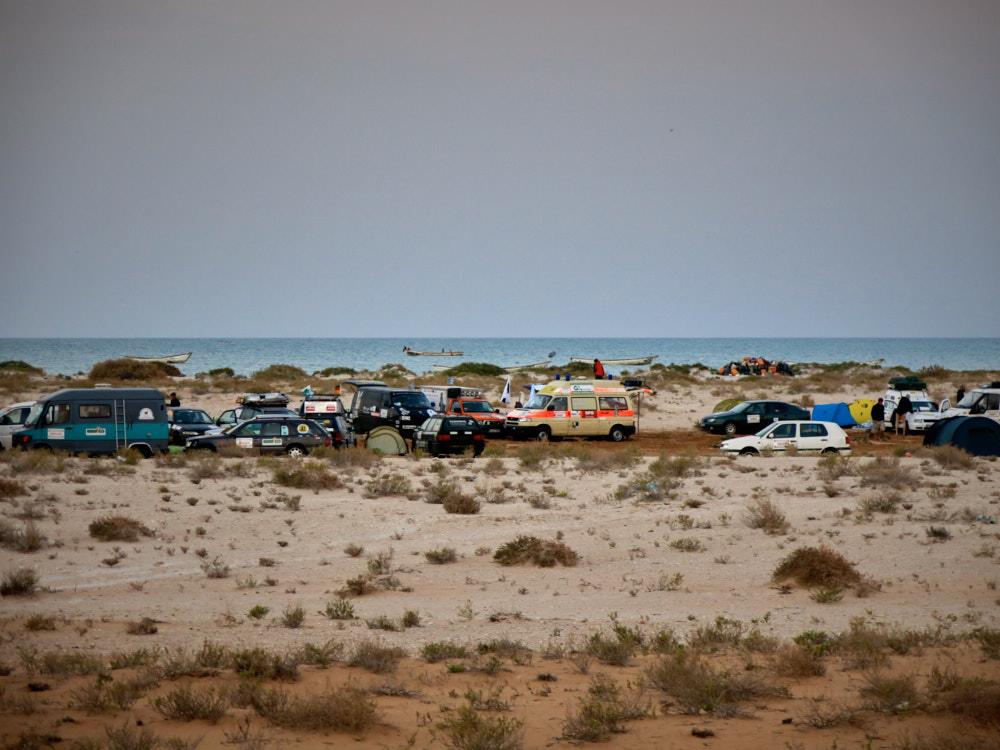 Das Camp am Strand