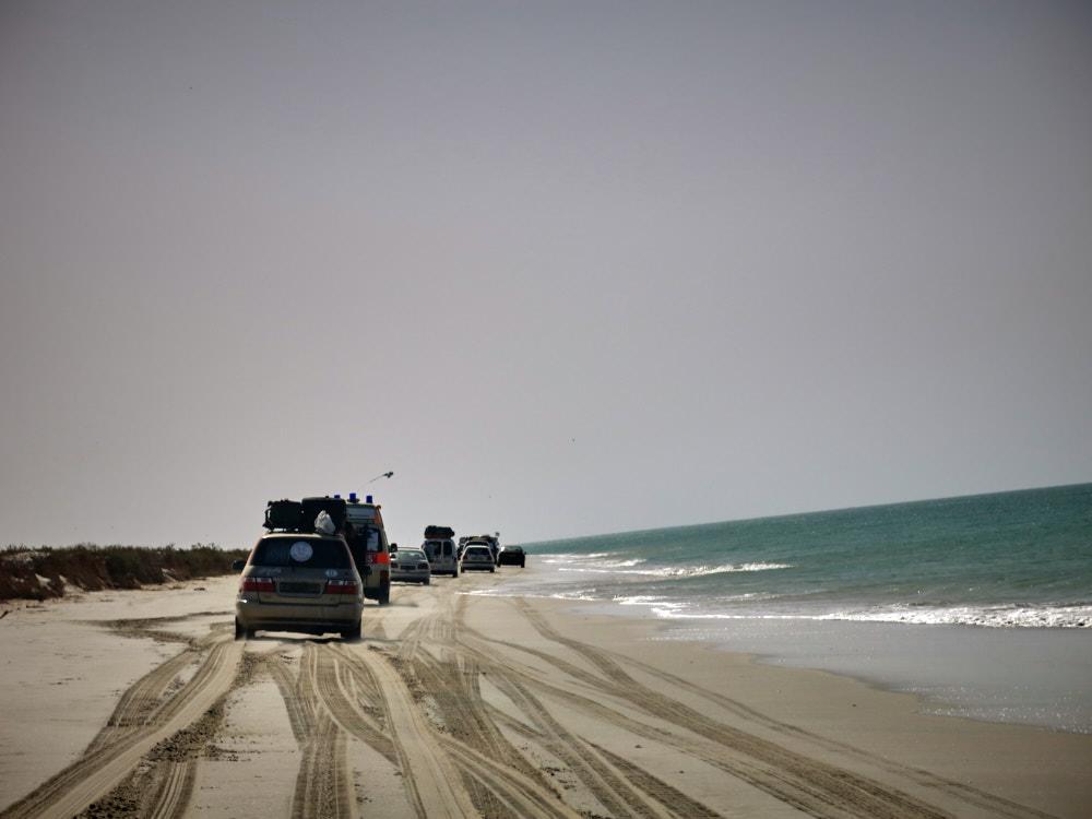 Los geht es mit der Strandetappe
