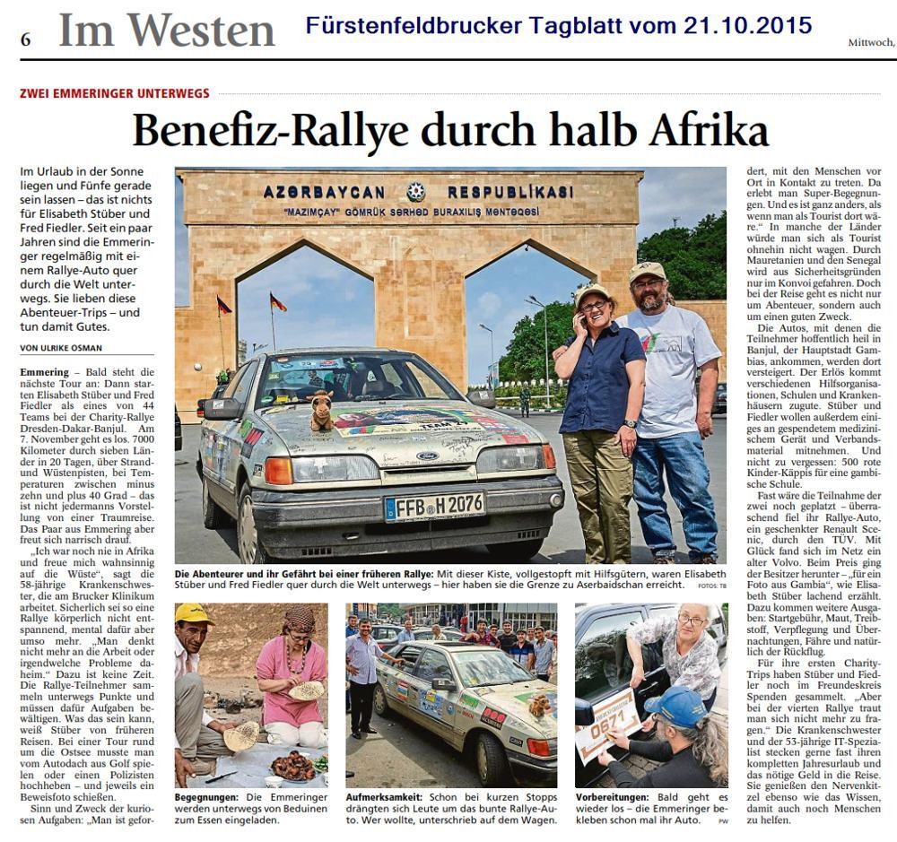 Fürstenfeldbrucker Tagblatt vom 21.10.2015