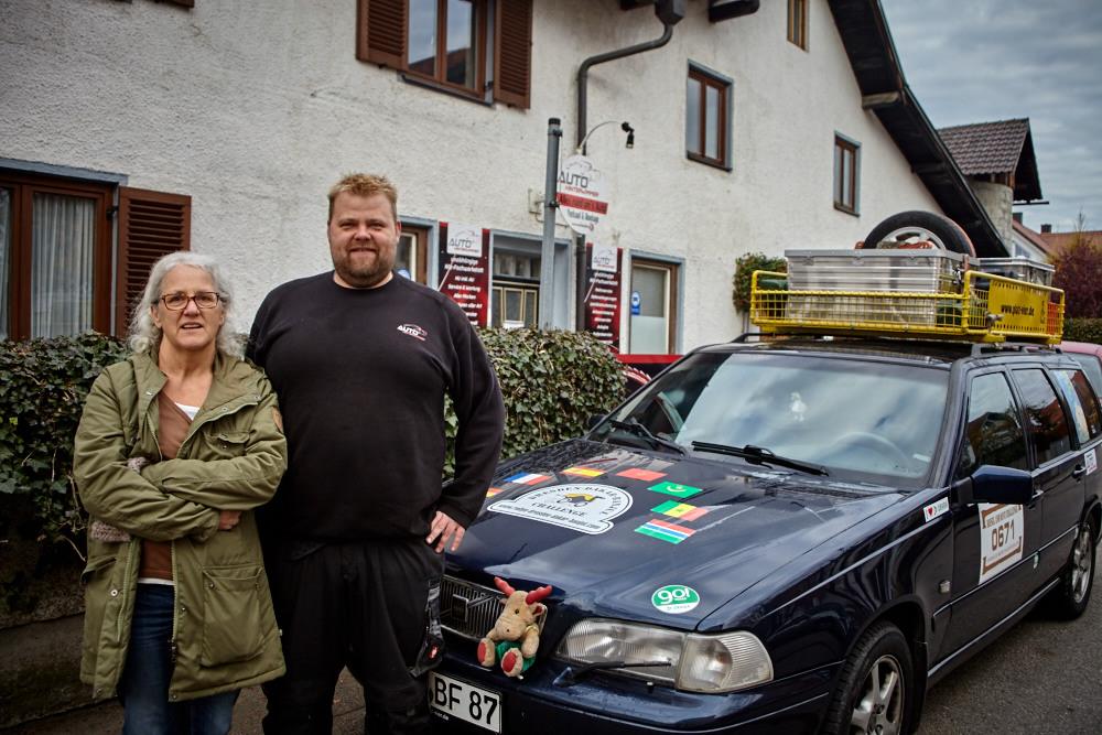 Gerhard Hinterwimmer hat sich um die Spur des Volvos gekümmert