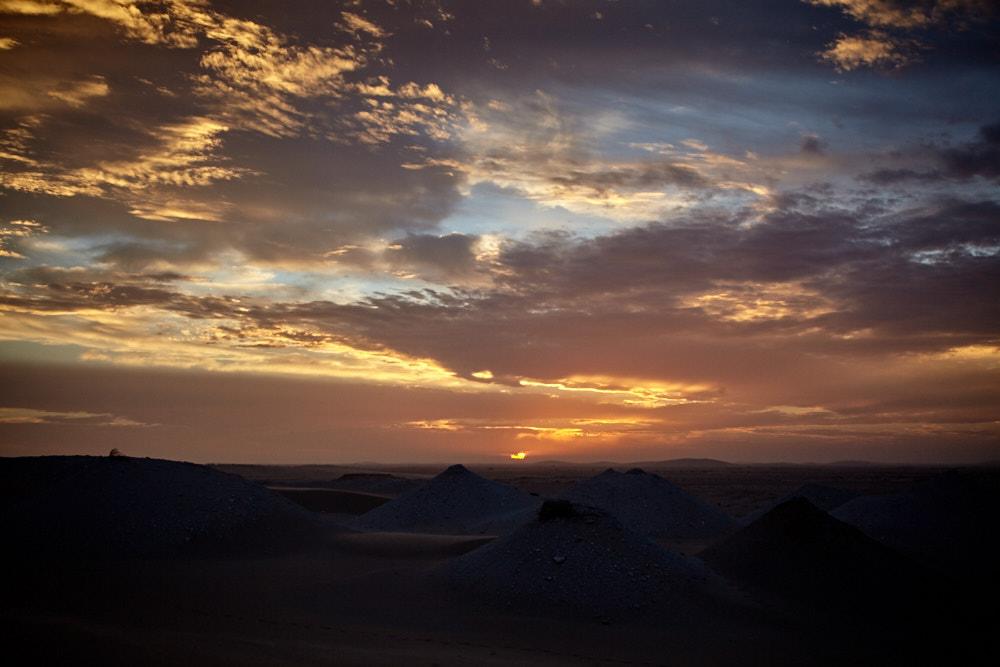 unser erster Sonnenaufgang in Mauretanien