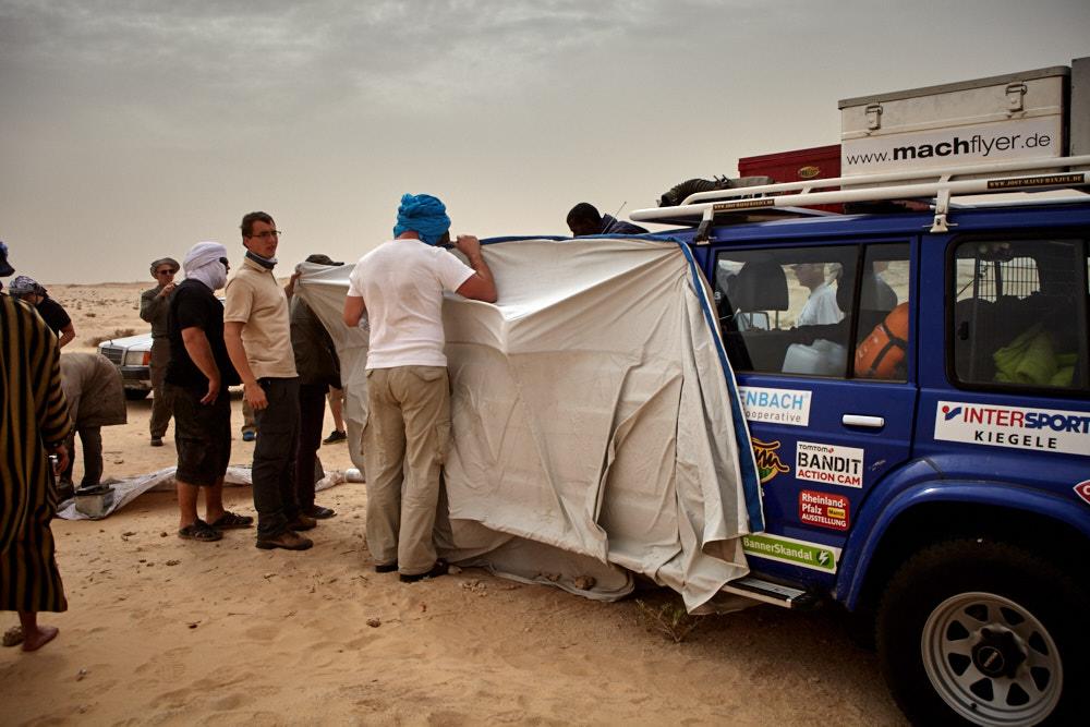 Zylinderkopfwechsel beim Sandsturm