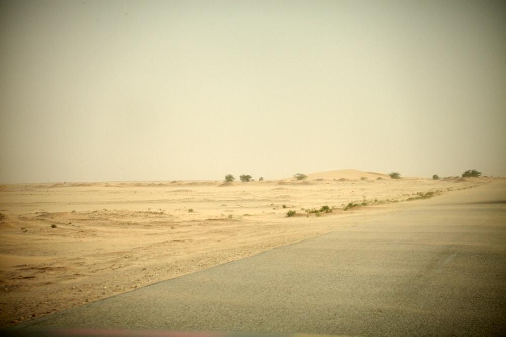 Sandsturm in Mauretanien