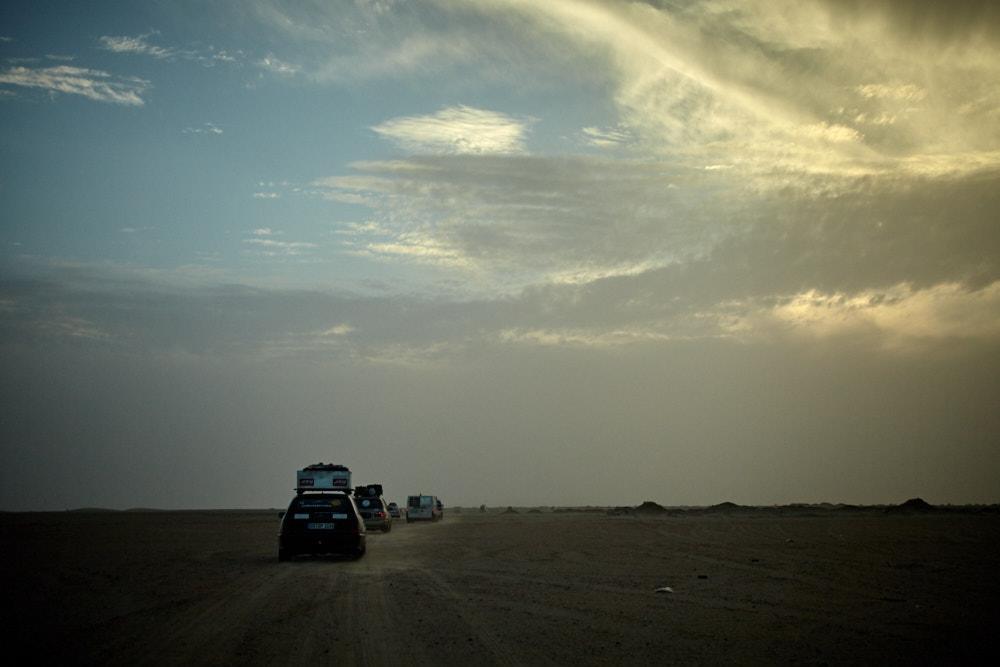 unterwegs in der mauretanischen Wüste