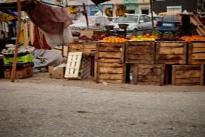 Obststand am Markt