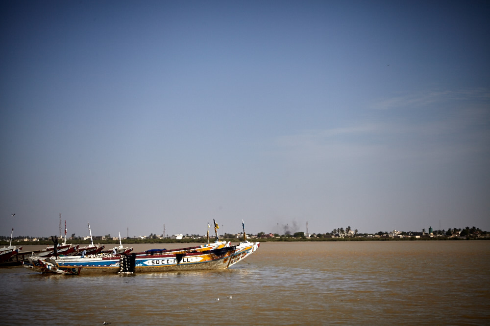 Boote am Senegal Fluss