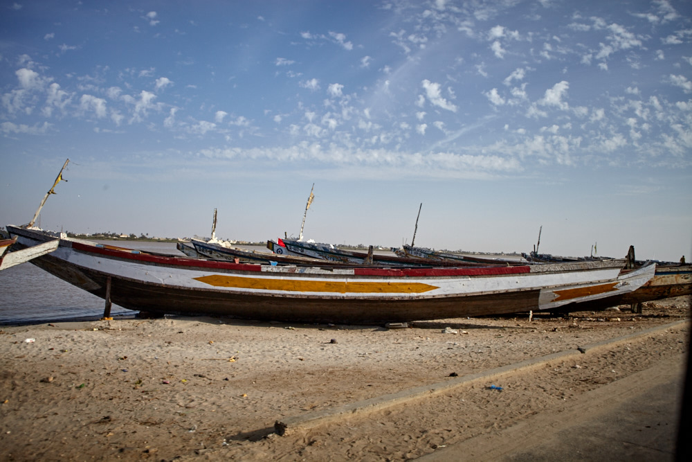 Boote am Senegal