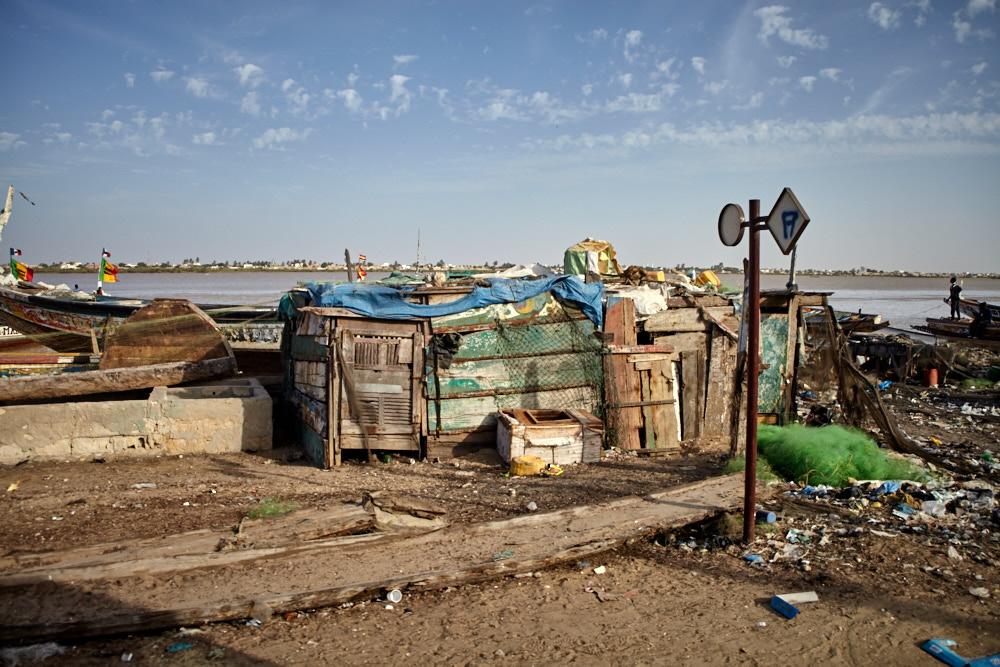 Fischerhütte am Ufer des Senegal