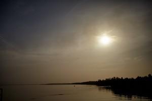 Mytische Stimmung auf dem Gambia-River