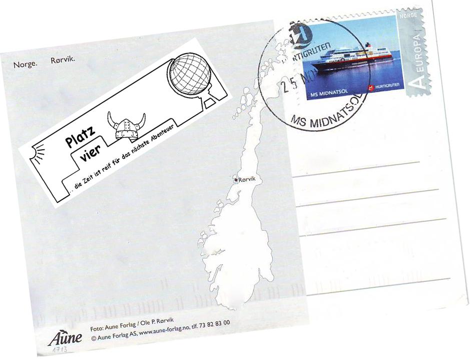 Postkarte-Hurtigruten